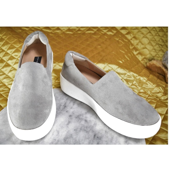 8468686a081 NEW Steve Madden Hilda Gray Suede Sneakers Size 9